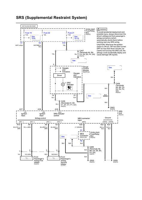 100 honda civic srs wiring diagram repair guides
