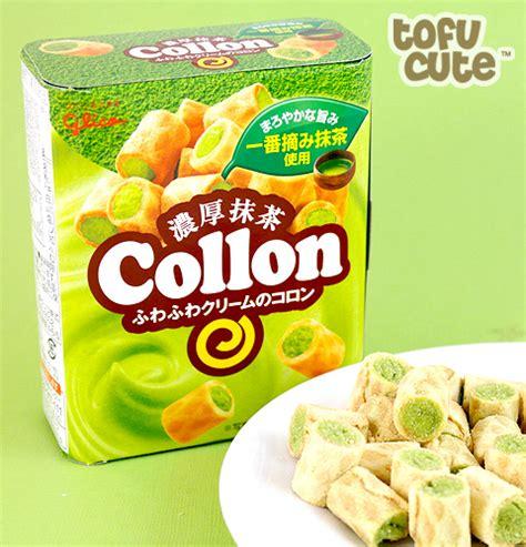 Glico Collon buy glico collon biscuit roll match green tea filling at