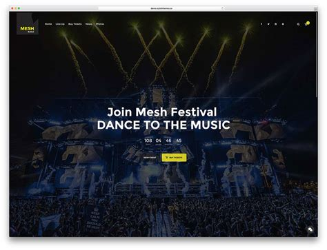 themes for management college festivals mesh best wordpress theme for music beau magazine