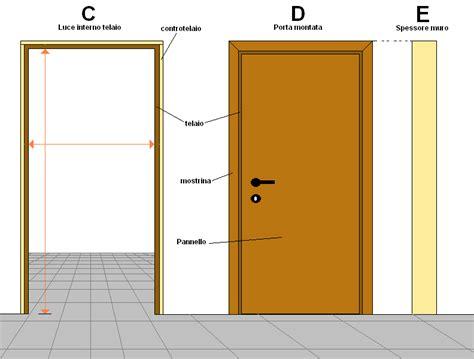 porte interne misure standard montebelli