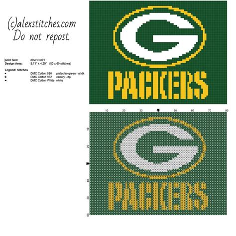 pattern maker 4 4 for free green bay packers national football league nfl team logo