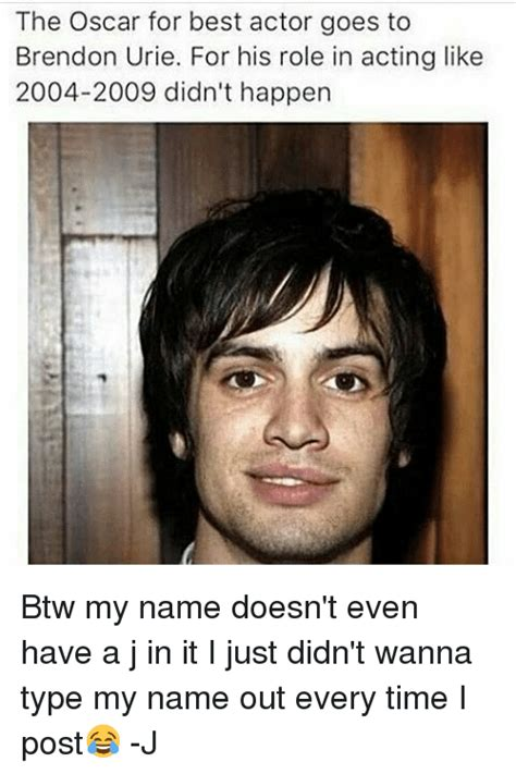 2004 oscars best actor the oscar for best actor goes to brendon urie for his role