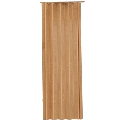 Spectrum Accordion Doors by Spectrum Express One 48 In X 96 In Vinyl Oak Accordion