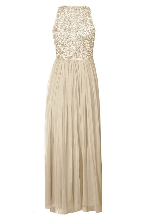 lace beads picasso cream embellished maxi dress party