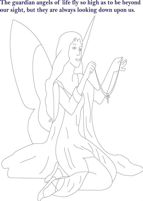 angel coloring pages pdf angel printable coloring page for kids 6