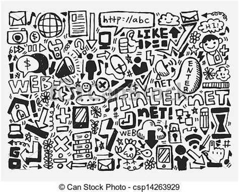 doodle bug website vector illustration of doodle network element csp14263929