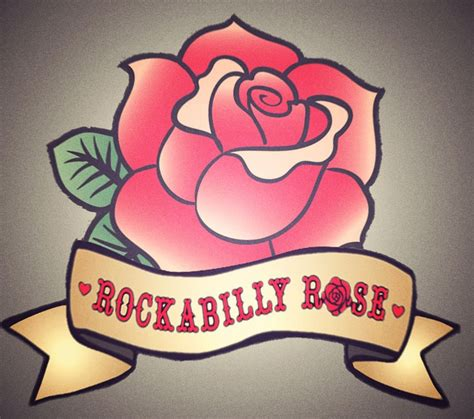 rockabilly rose tattoo rockabilly with white banner square lomo jpg 980 215 868