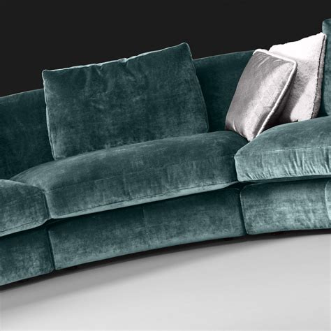 High End Large Velvet Modular Corner Sofa High End Sofa
