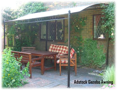 lean to awning adstock garden patio lean to gazebo awning shelter with deluxe 250g m2 canopy ebay