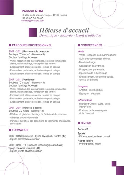 Lettre De Motivation De Standardiste Modele Cv Standardiste Cv Anonyme