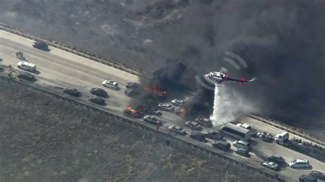 cajon pass fire 3 500 acre north fire in cajon pass burns homes and