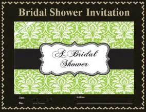 free bridal shower invitation templates for word invitation templates free word s templates