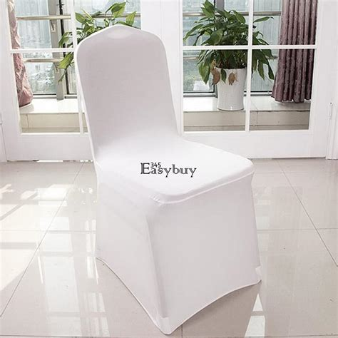 White Wedding Chair Covers Cheap by 100pcs Wholesale Universal White Polyester Spandex Wedding