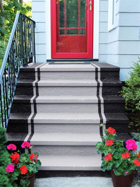 how to paint concrete steps hgtv