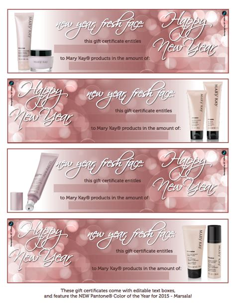 search results for mary kay gift certificate printable