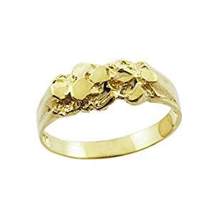 solid 10k yellow gold polished nugget baby