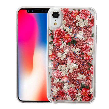 for iphone xr liquid glitter sparkle hybrid protector cover walmart
