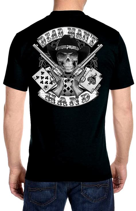 biker apparel mens hanes beefy t aces and eights dead mans biker