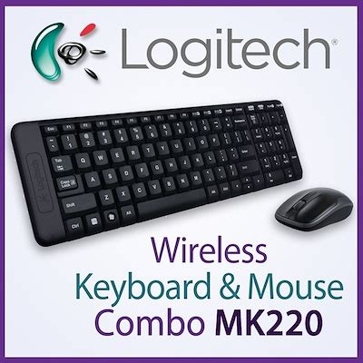 Keyboard Mouse Wireless Logitech Mk220 qoo10 original logitech wireless keyboard mouse mk220 combo mk 220 cordles computer