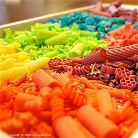 how to color pasta toddler math colored pasta on counting sorting