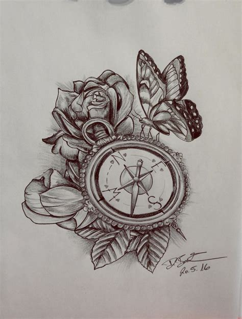 rosen tattoo design custom drawing pencil vorlage