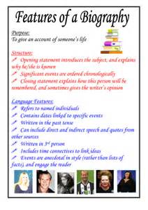 biography structure template features of a biography poster by moshing teaching