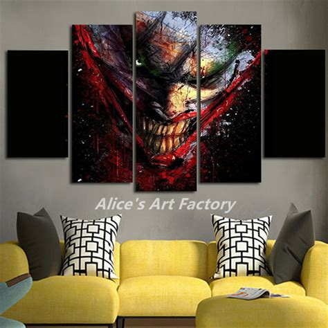 batman home decor 5piece movie poster canvas painting joker batman comics