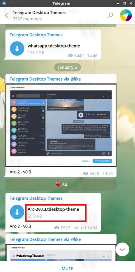 themes in the telegram how to install themes in telegram desktop winaero