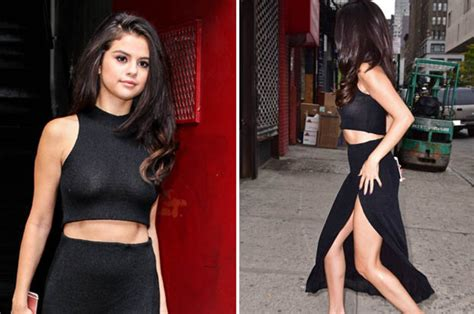 selena gomez see through selena gomez flashed the flesh in a see through top on