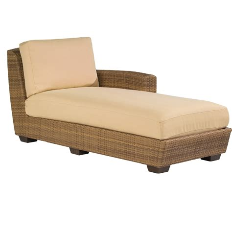 right arm chaise lounge woodard saddleback right arm facing wicker chaise lounge