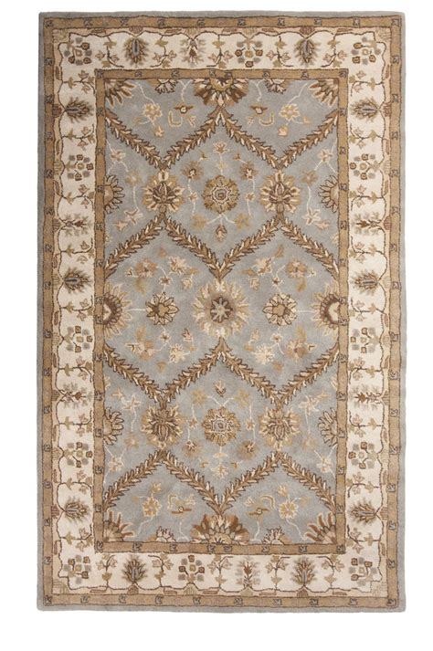 Area Rug 5x8 Blue Made Tufted Traditional Wool Area Rug Carpet 5x8