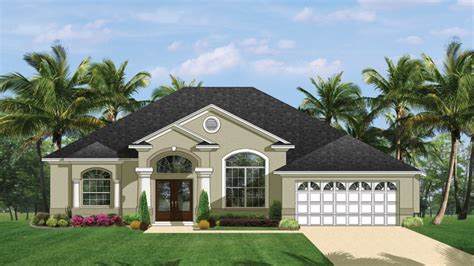 Mediterranean Modern Home Plans Florida Style Designs From Homeplans Com