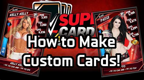 how to make a custom card how to make custom supercard cards photoshop