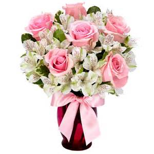 Singing sweetly pink rose bouquet at send flowers