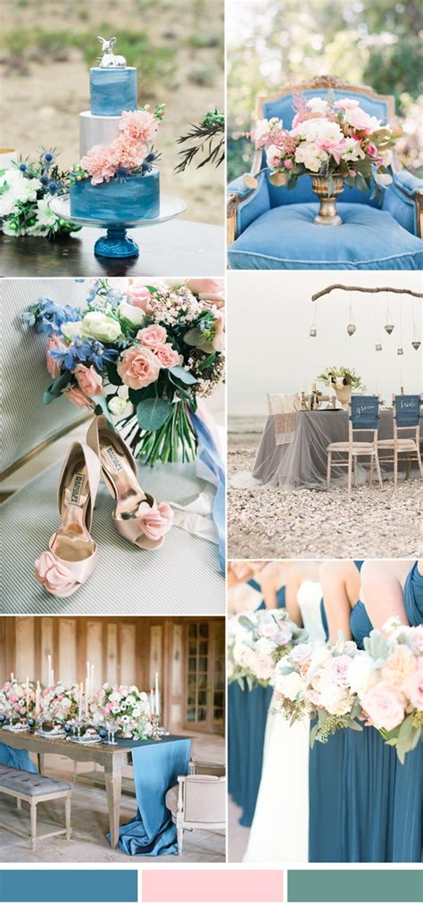summer wedding color ideas 2017 from pantone niagara stylish wedd