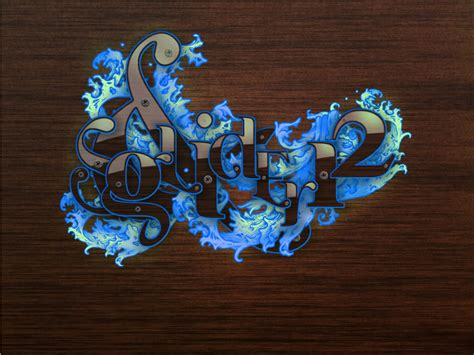 gimp tutorials string ornate typographic illustration