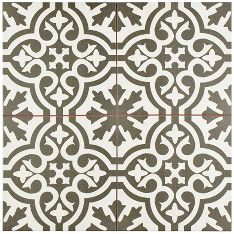 Merola tile berkeley charcoal 17 5 8 in x 17 5 8 in ceramic floor and wall tile 11 1 sq ft