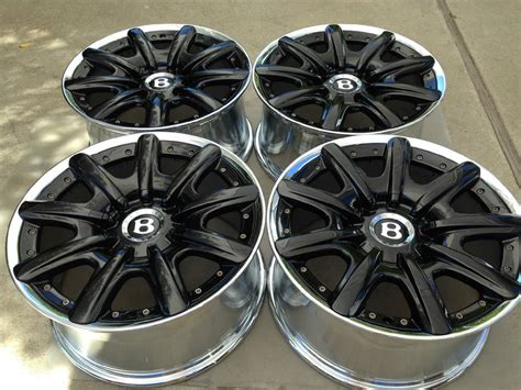 19 Quot Bentley Mulliner Oem Factory Black 2 Pc Wheels Flying