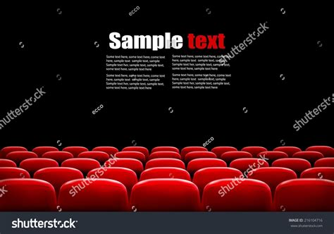 Or Cinema Rows Cinema Theater Seats Front Stock Vector 216104716