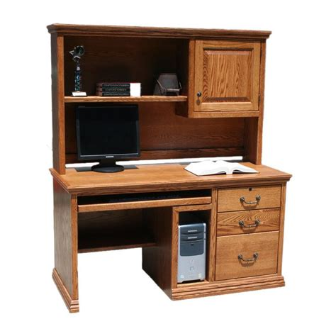 Hutch Area Od O T653 Traditional Oak 62 Quot Executive Desk