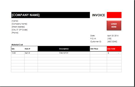 Electrician Invoice Template Excel Invoice Templates Electrician Invoice Template