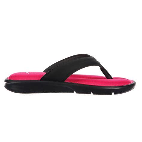 womens nike comfort flip flops nike ultra comfort thong black pink women s flip flops ebay