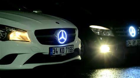 glowing bmw emblem mercedes lighted logo emblem