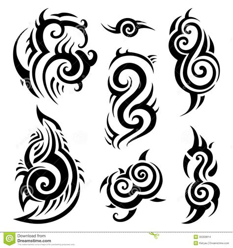 tribal tattoos vector tribal set stock illustration illustration of