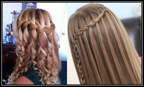 hairstyles for straight hair with braids step by step waterfall braid hair styles
