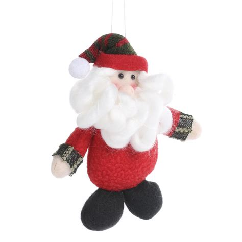 plush santa christmas ornament christmas ornaments