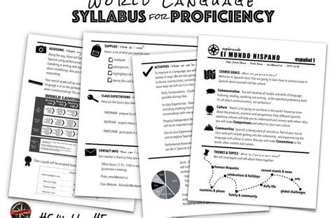 world language syllabus  proficiency creative