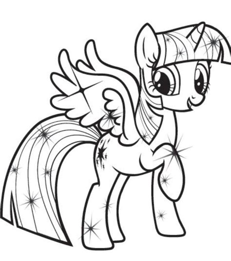 twilight sparkle coloring page free coloring pages of my pony twilight