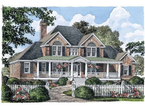 bloombety country large farmhouse plans large farmhouse southern charm hwbdo10438 farmhouse home plans from