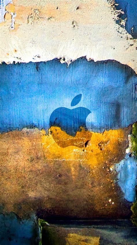 apple logo graffiti grunge iphone  wallpaper hd